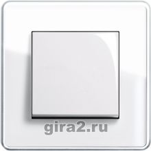 Рамки Gira Esprit Glass C (белое стекло)